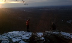 Friends on the AT at bears den overlook