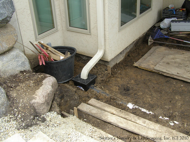 how to install a catch basin