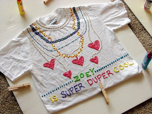 Weekend project little girl crushes Puffy paint shirt designs