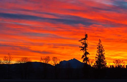 sky sunrise dawn pugetsound arlingtonwa