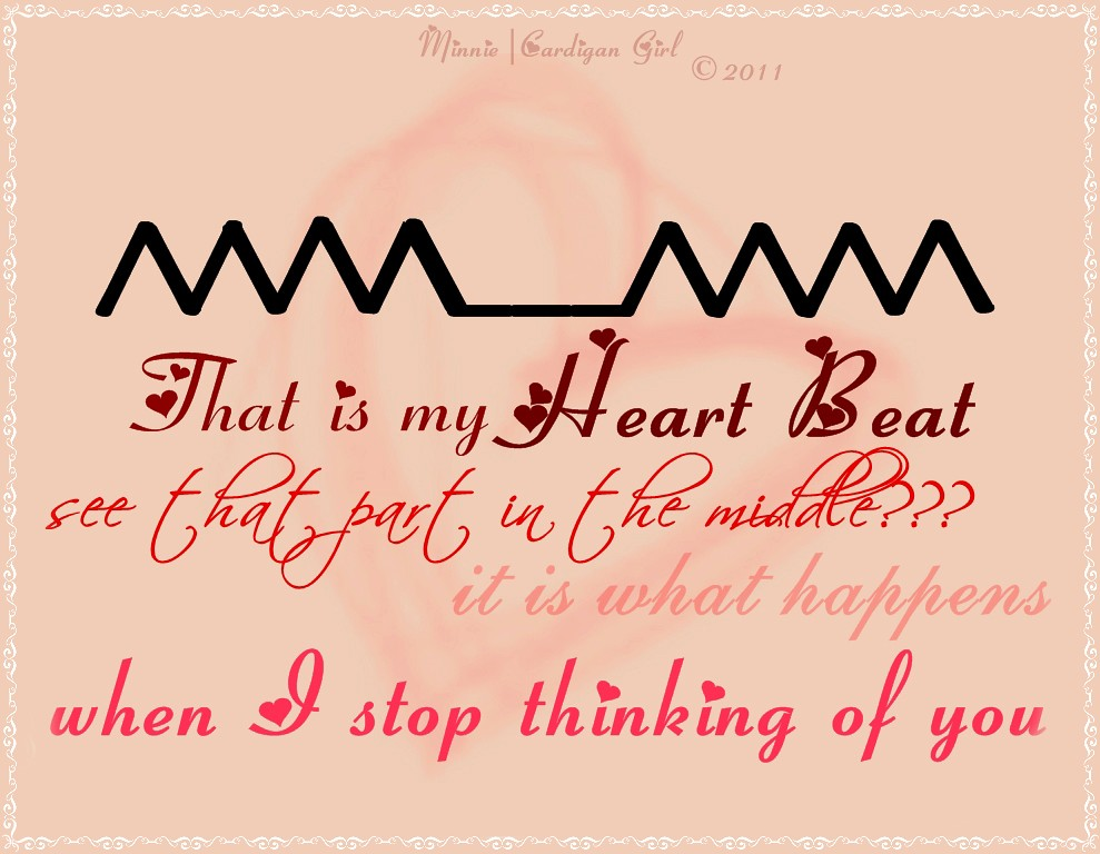 Can u feel my heart beat?