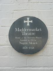 Photo of Walter Nugent Monck green plaque