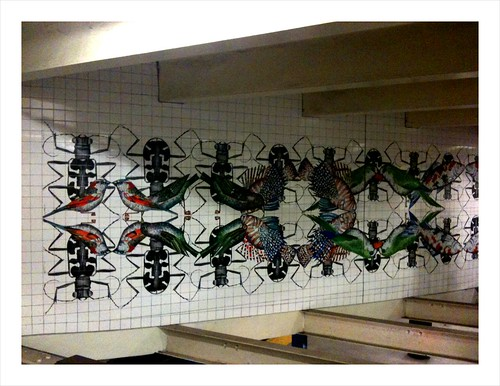 Creepy robot cockroach bird infestation at Jay St. Metrotech subway station