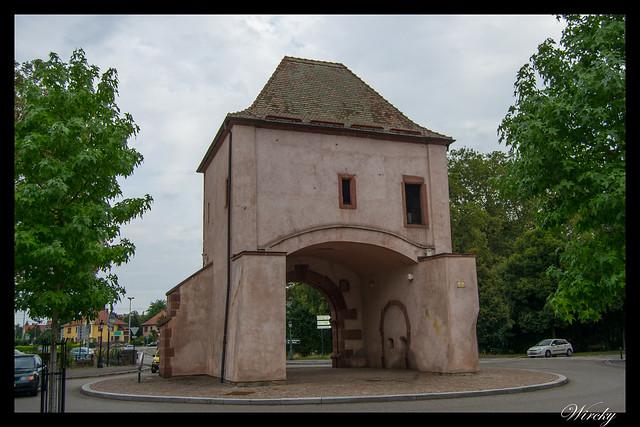Alsacia Haguenau Estrasburgo - Puerta de Wissembourg en Haguenau