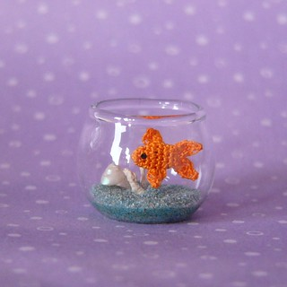 Crochet goldfish