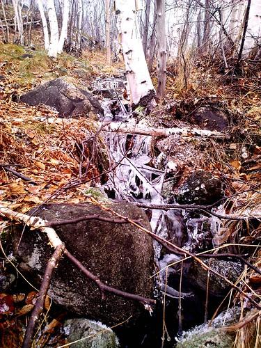 winter fall ice stream sudbury laurentian
