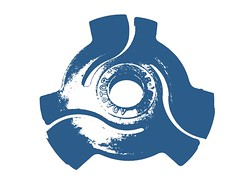 45 rpm adaptor blue