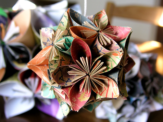 2010 kusudama ornament