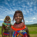 Mumuhuila tribe girls - Angola by Eric Lafforgue