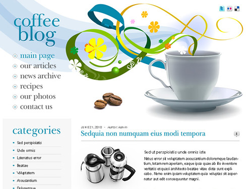 Free Wordpress Theme for Coffee Blog