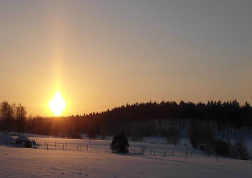 winter snow cold sunrise sweden enviken samsungex1