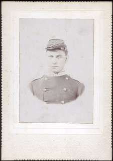 Cabinet Print- Keim - Large album - 28 - civil war soldier - 43rd - C B Mosman - Photographer - Allegany NY