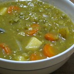 Split Pea Vegetable Soup (vegan)