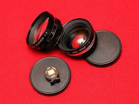 Yashica Electro 35 G conversion lenses