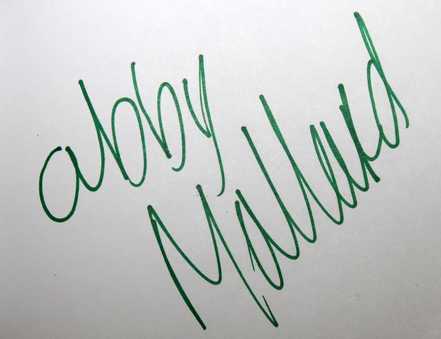 Abby Mallard's signature