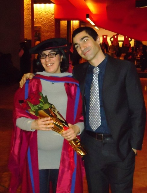Manuela's PhD graduation, London