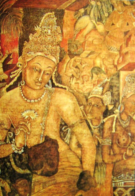 Buddhist fresco in ajanta caves a photo on flickriver for Egyptian fresco mural painting