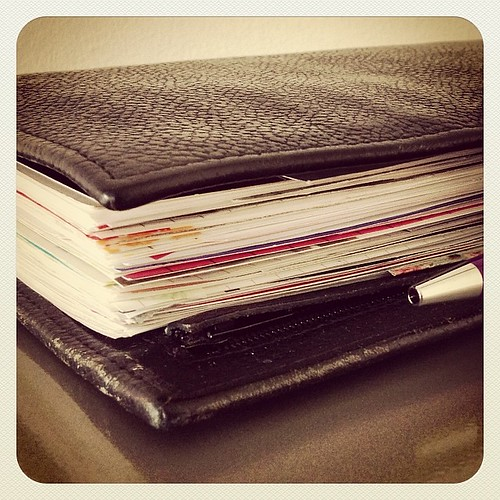 #fflovephotoaday - Day 27: & After. That's four months (Jan - April) worth of DpP. #filofax #filomaniac
