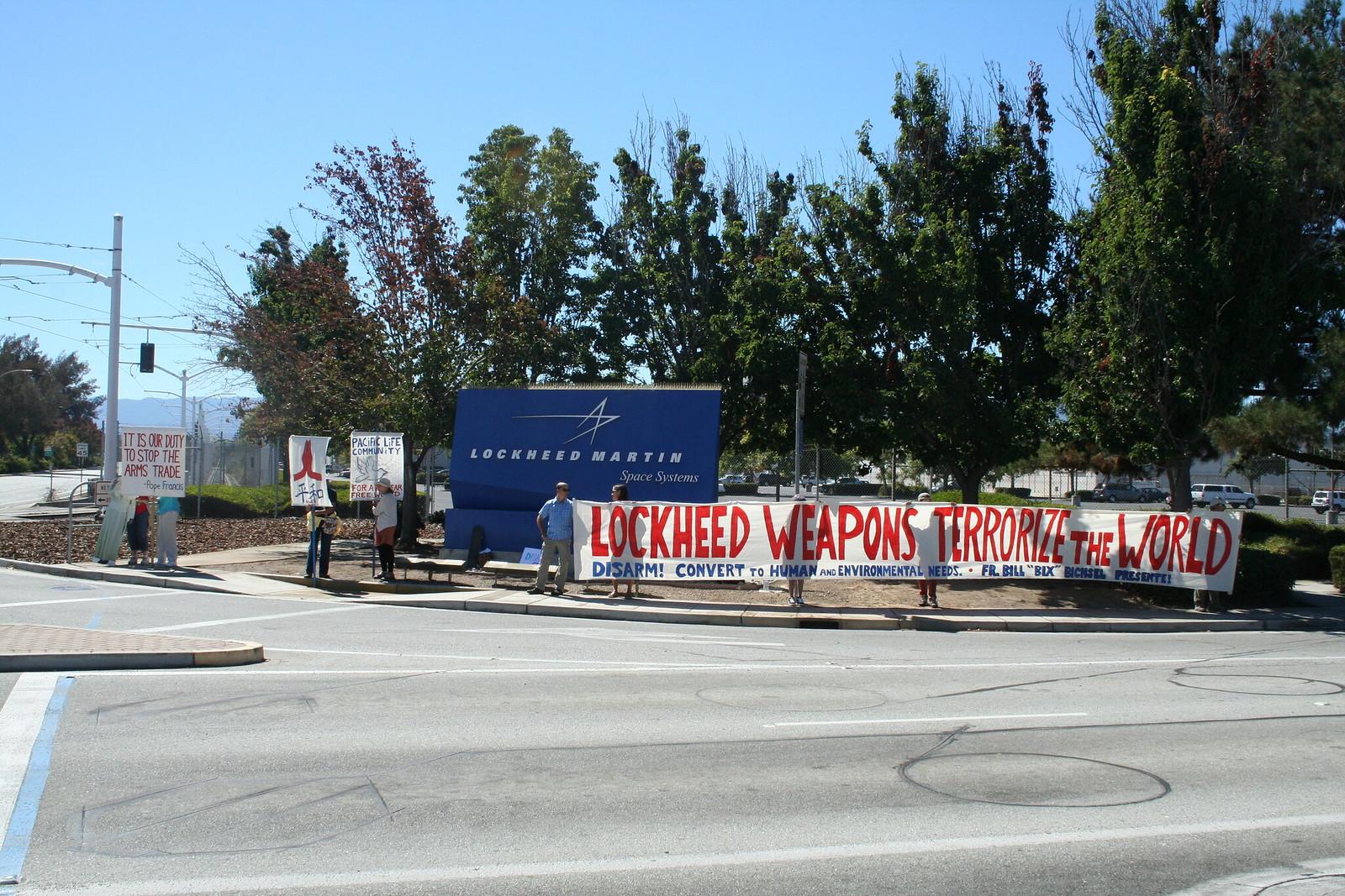 Sunnyvale, CA Peace Vigil at Lockeed Martin 2016 (7)
