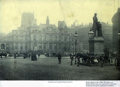 01 - Forster Square & Richard Oastler statue, Bradford (1890s)