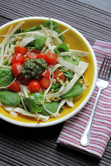 Parsnip, Spinach and Cherry Tomatoes