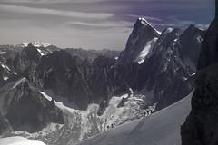 Approach to l'Aiguille du Midi
