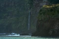 Waterfalls into the sea