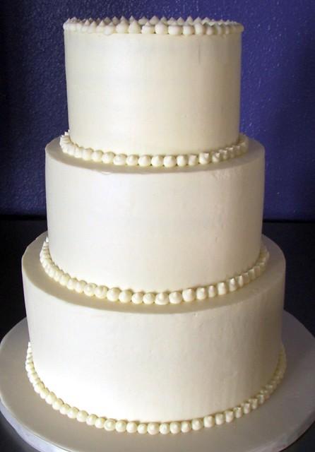 simple white wedding cake | Flickr - Photo Sharing!