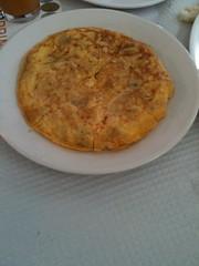 Tortilla española, an Andalusian dish at La feria de Carmona 2010
