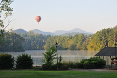 Hot Air Balloon Above Biltmore Lake