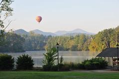 Hot Air Balloon Above Biltmore Lake