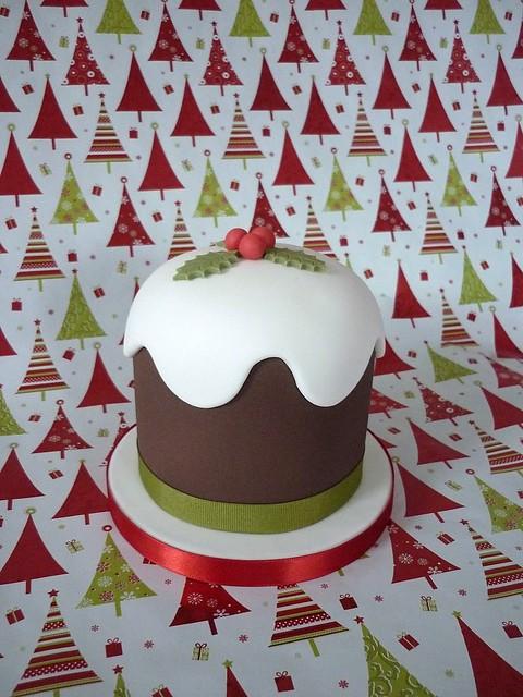 Mini Xmas Cake Designs : Christmas pudding cake Flickr - Photo Sharing!