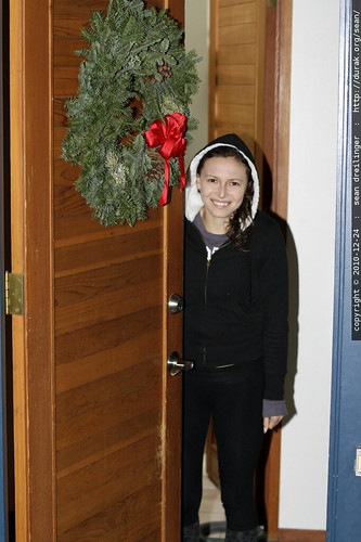 aunt megan, holiday greeter