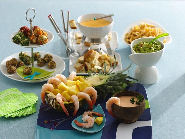 shrimp-scallop fondue recipe | shrimp recipes | fish recipes