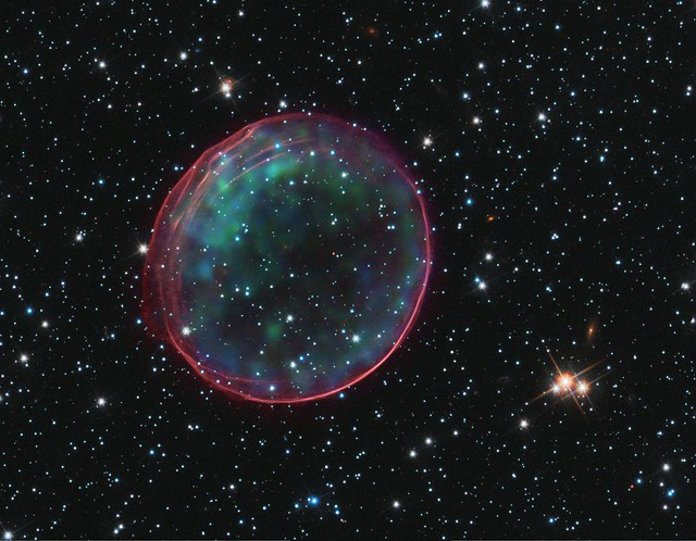 Supernova Remnant or Holiday Ornament? (NASA, Chandra, Hubble, 12/14/10)