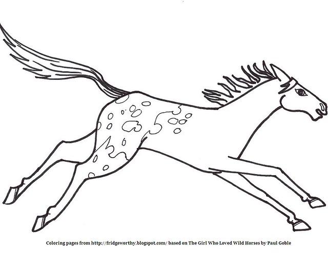 Appaloosa Horse Head Coloring Coloring