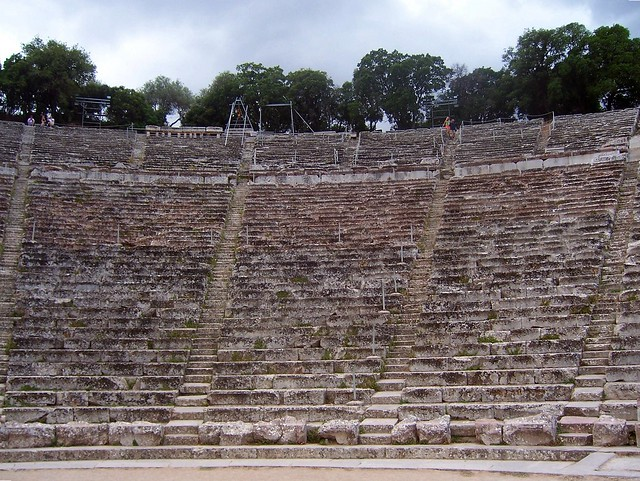 Ancient Theatre, built in the 4th century BC and located southeast of the Sanctuary of Asklepios, Epidaurus