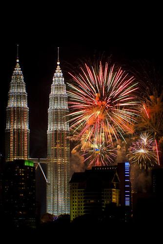fireworks @ klcc