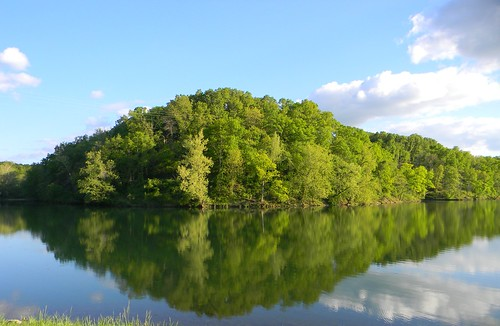 green clouds reflections landscape spring rogersarkansas lakeatlanta