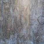 Hand-enscribed headstone