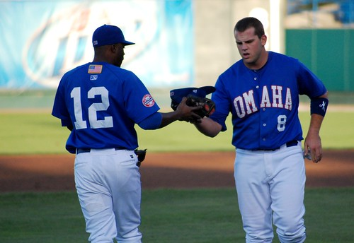 Irving Falu and Mike Moustakas