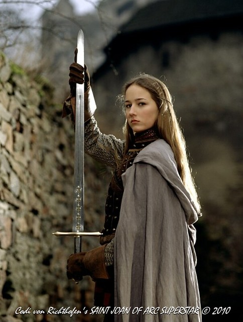 Joan of Arc as played by Leelee Sobieski - CBS Television, 1999