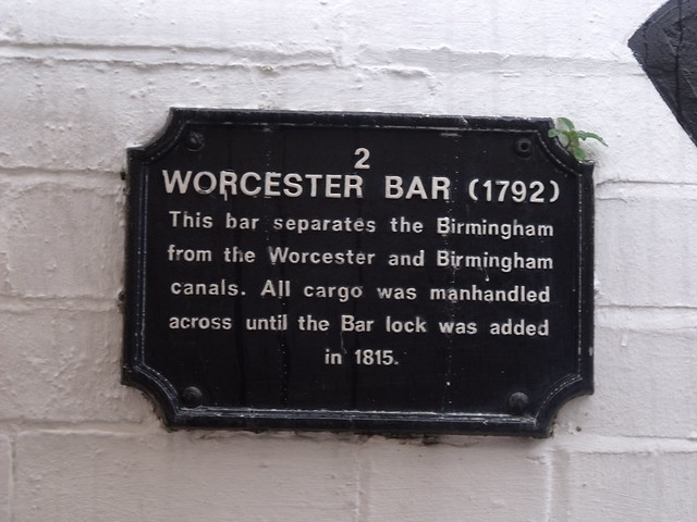 Photo of Worcester Bar black plaque