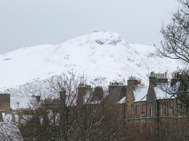 a snowy Arthur's Seat, Edinburgh - more wintry inspiration | Emma Lamb