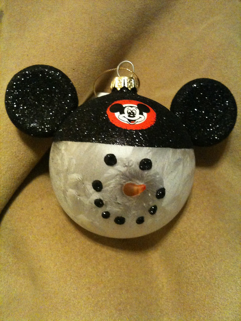 Mickey mouse snowman ornament flickr photo sharing