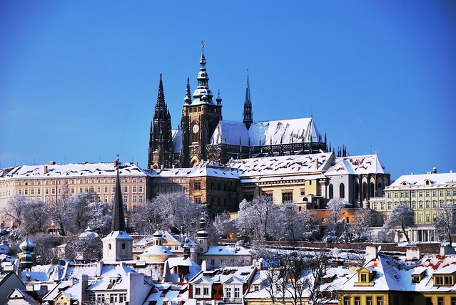 Prague Castle Snow