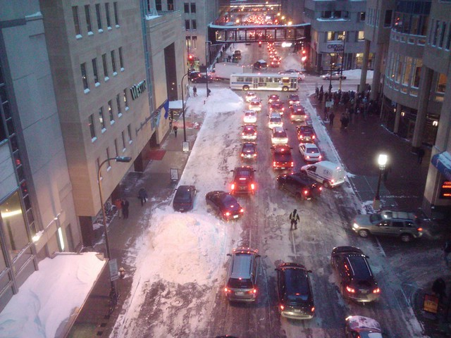 Snowmaggedon/Snowpacalypse - Monday PM commute out of Downtown Minneapolis 1