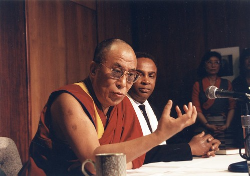 Dalai Lama and Mayor Norm Rice, 1993