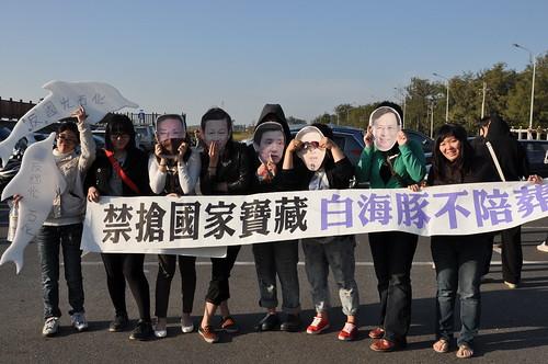 白海豚為台灣擋掉國光石化汙染,台灣人都欠白海豚人情!