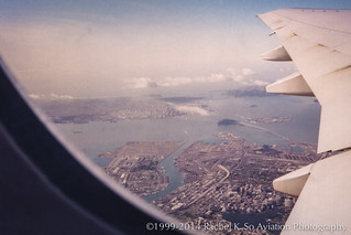 San Francisco Bay from United 930: Fly the Lesbian-Friendly Skies